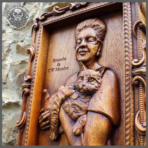wood carver portrait from photo