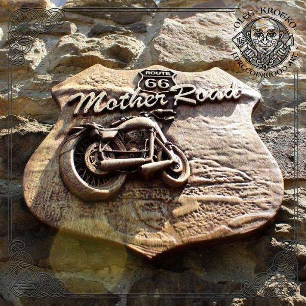 Motorcycle Symbol wood carving