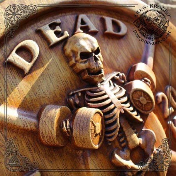Skeleton Wood Carving