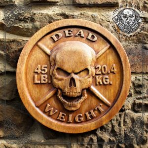 wood plaque skull for sale