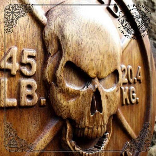 Skull Wood Carving Wall Hanging