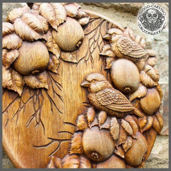 Birds wood carvings