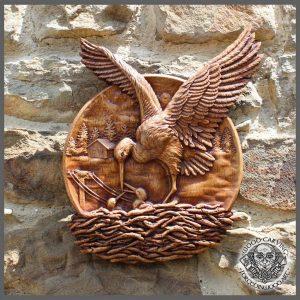 stork hand carved for sale