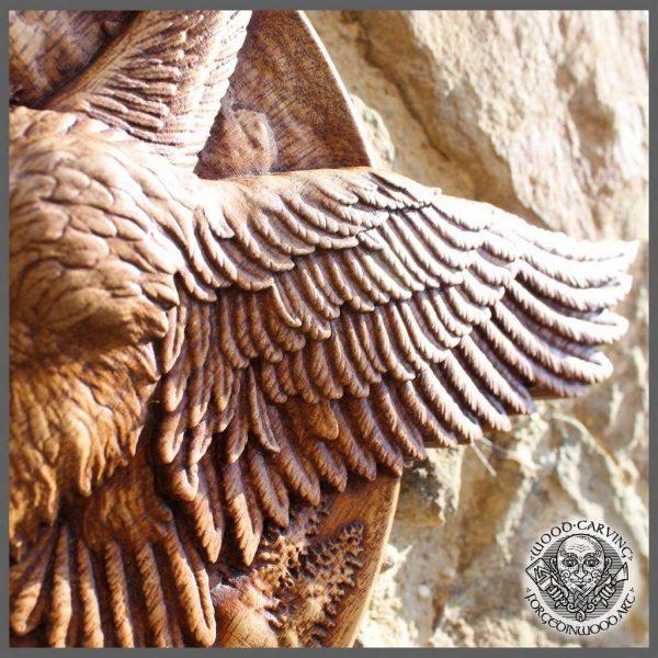 Hand carved stork