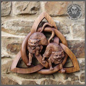 viking cat triquetra knot