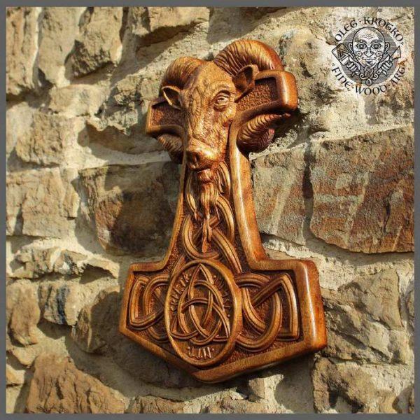 Wooden Thor's Hammer