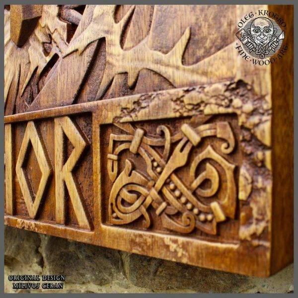 Celtic Knotwork wood carving