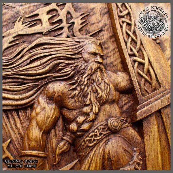 Vikings Wall Woodwork Art