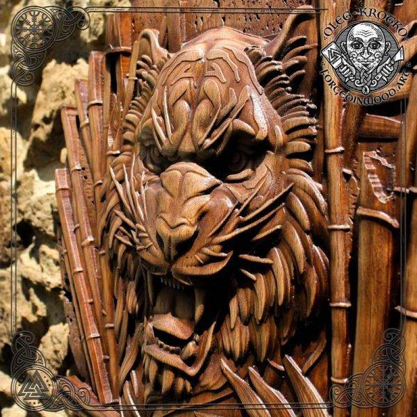 Tiger Luxury Carved Plaque
