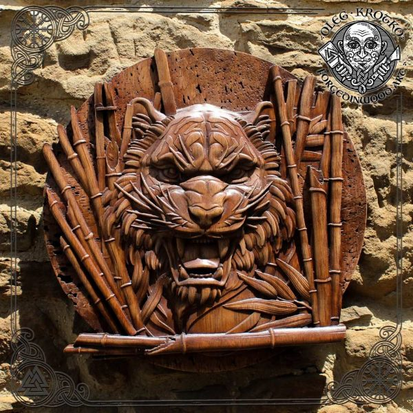 tiger wood carving for sale