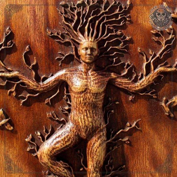 Tree man wood carving