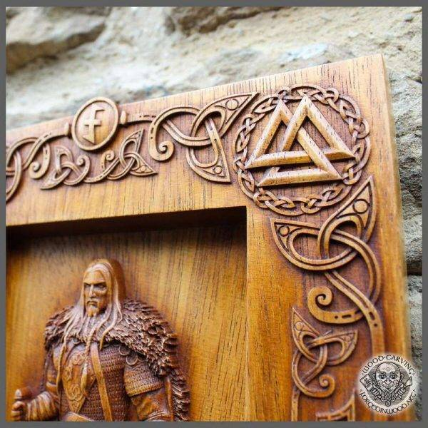 viking style wood carving
