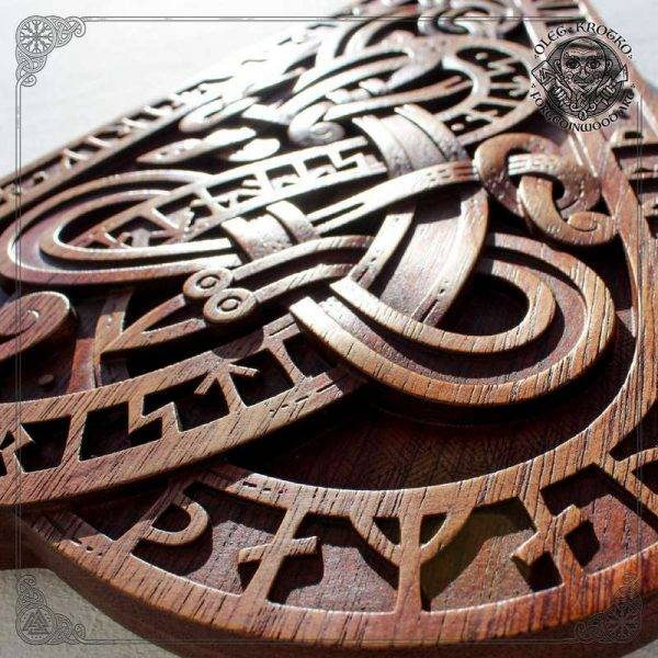 Norse Style Wood Carving Replica
