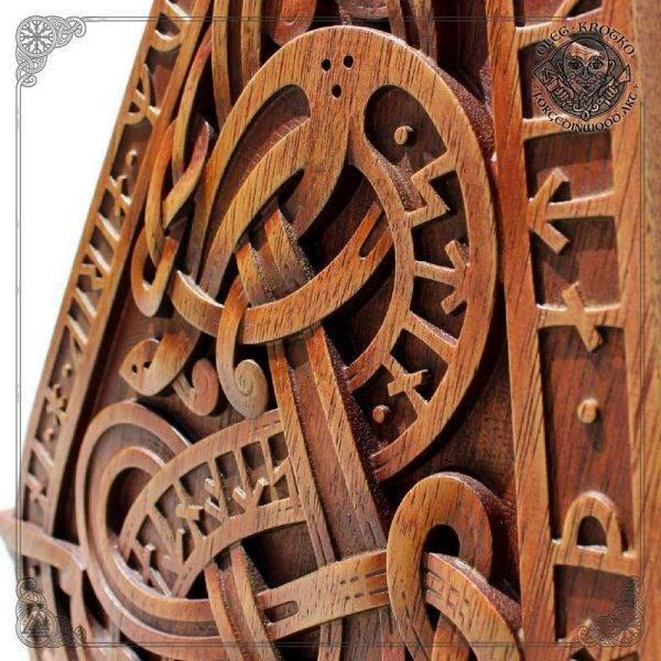 Vintage carved wood wall art