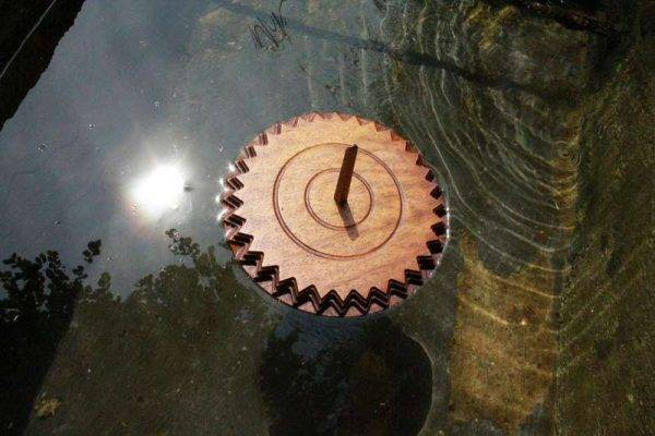 Viking Compass wood carved