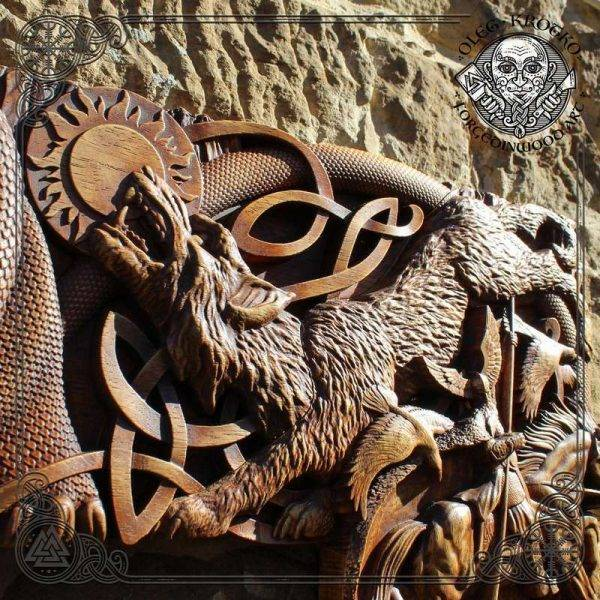 Norse Mythology Wooden Picture Frame