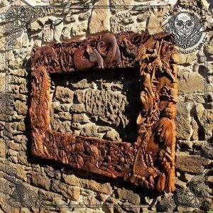 Carved Wood Ragnarok Frame