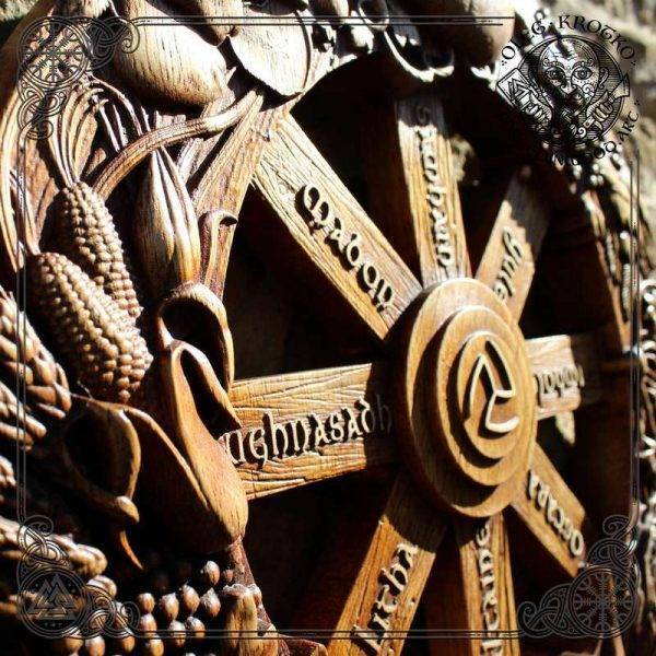 Wheel of the Year Pagan wood