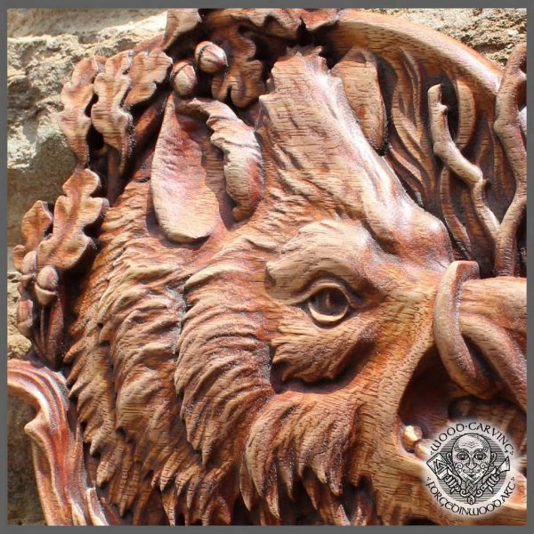 Animal carved wild boar