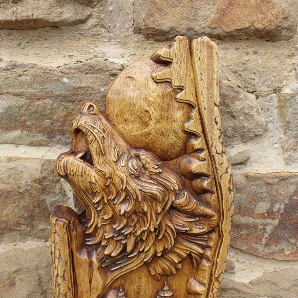 Wolf Animal Wood Carving