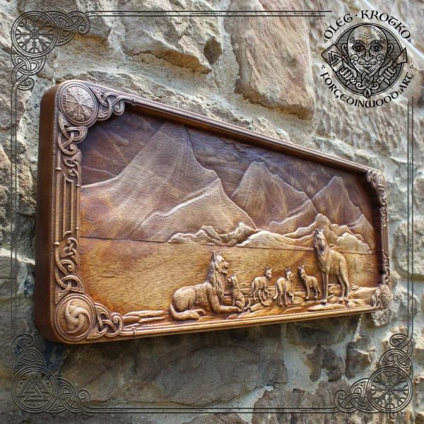 Viking carving art for sale
