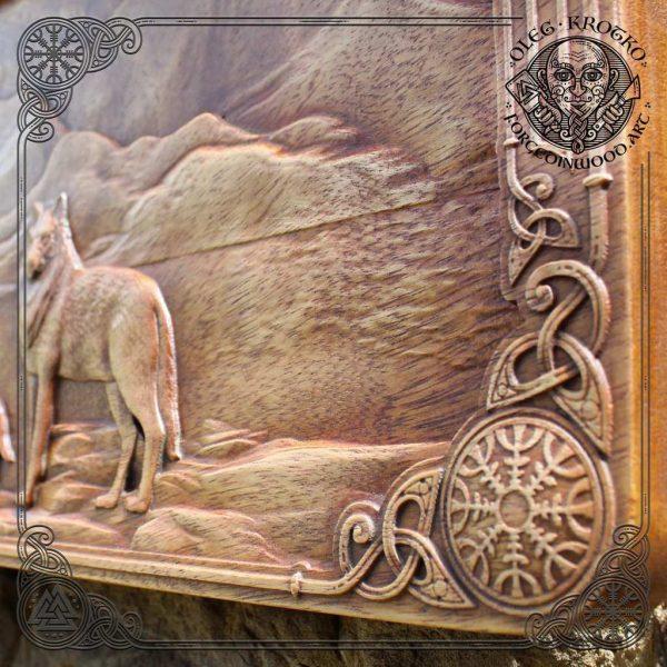 walknut wood carving