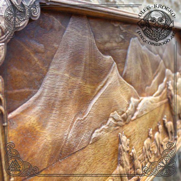 wolf viking carvings