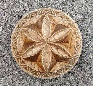 Wood carved Triskel