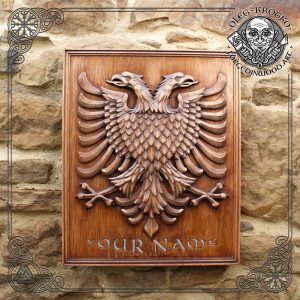 wood carver service coat of arms