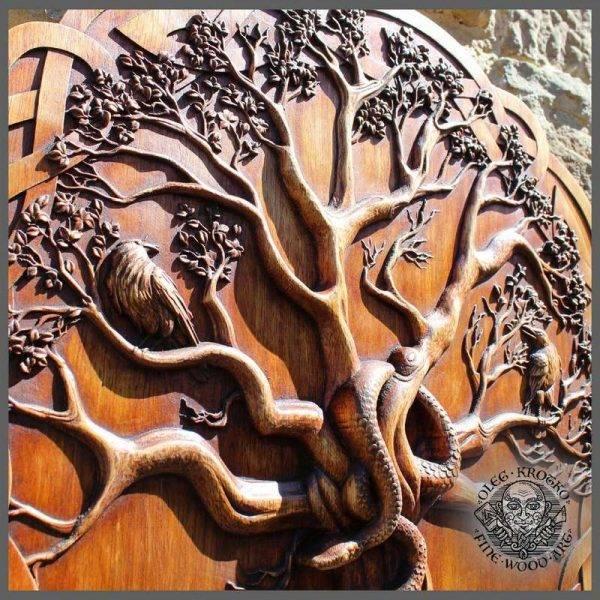 Wood Carving Yggdrasil tree