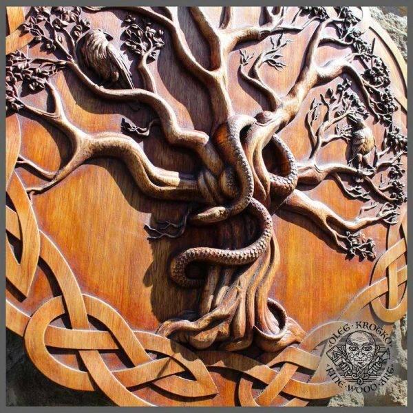 Wood Carving Yggdrasil gift