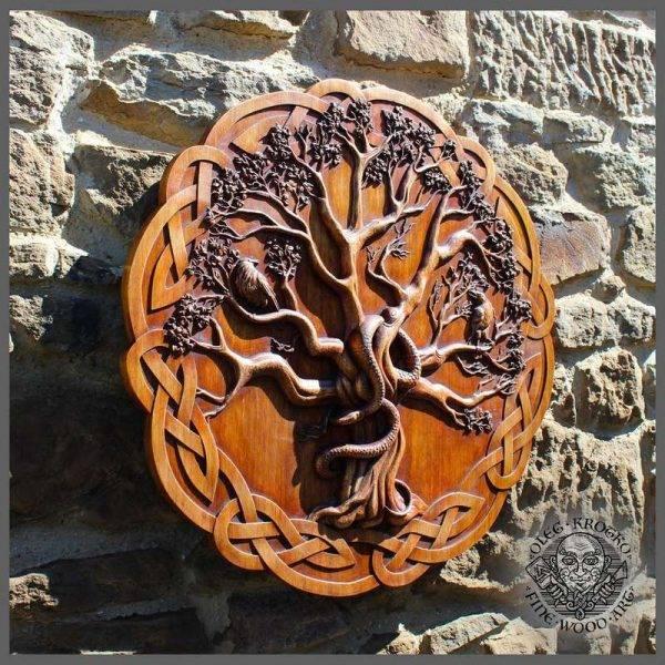 Wood Carving Yggdrasil