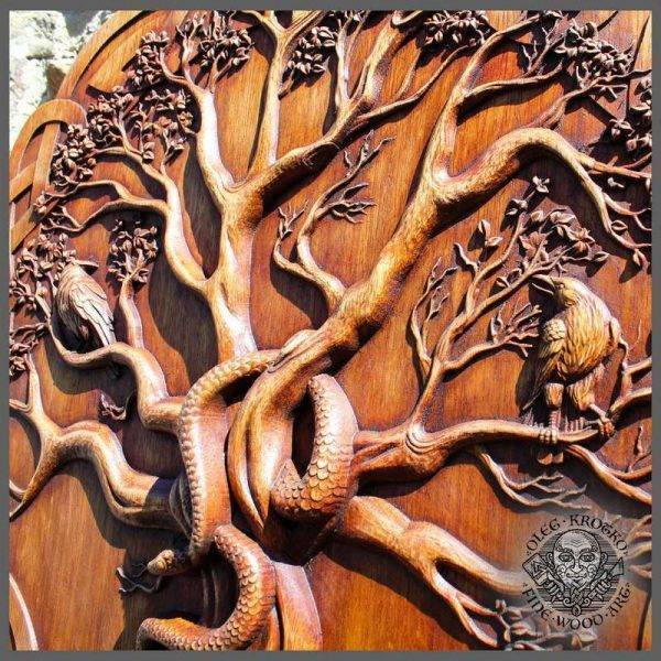 the world tree wood carving
