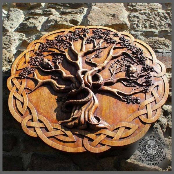 tree of life yggdrasil norse mythology carving