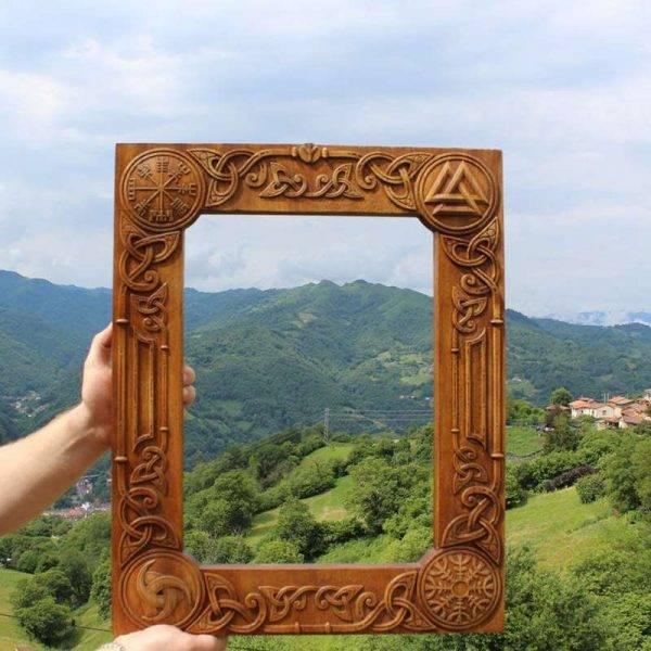 Wood Carving Elegant Frame Viking