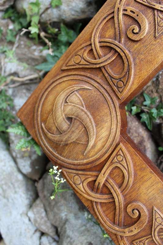 Triskele (Horns of Odin) symbol frame