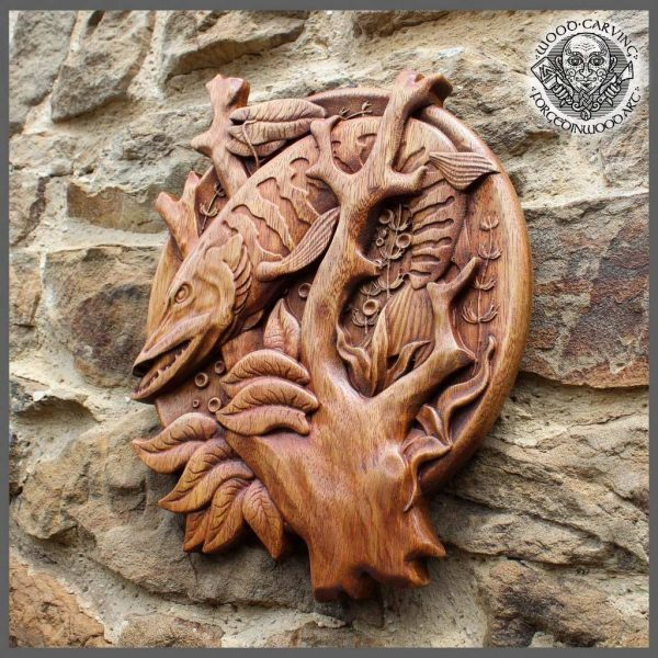 hand carved animals