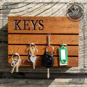 Modern Wood Key Holder