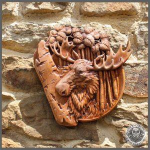 moose elk animal carvings