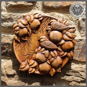 Sparrows Birds carvings