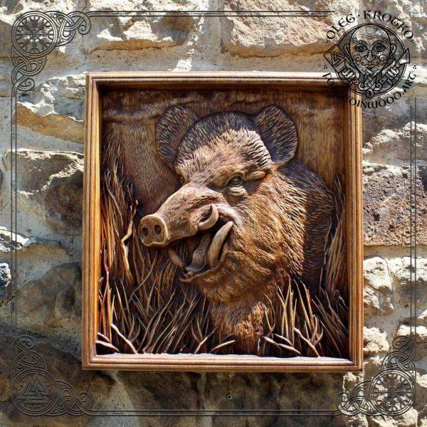 wooden wild boar for sale